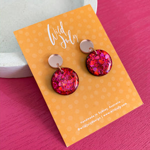SPARKLE Mini Round Dangles