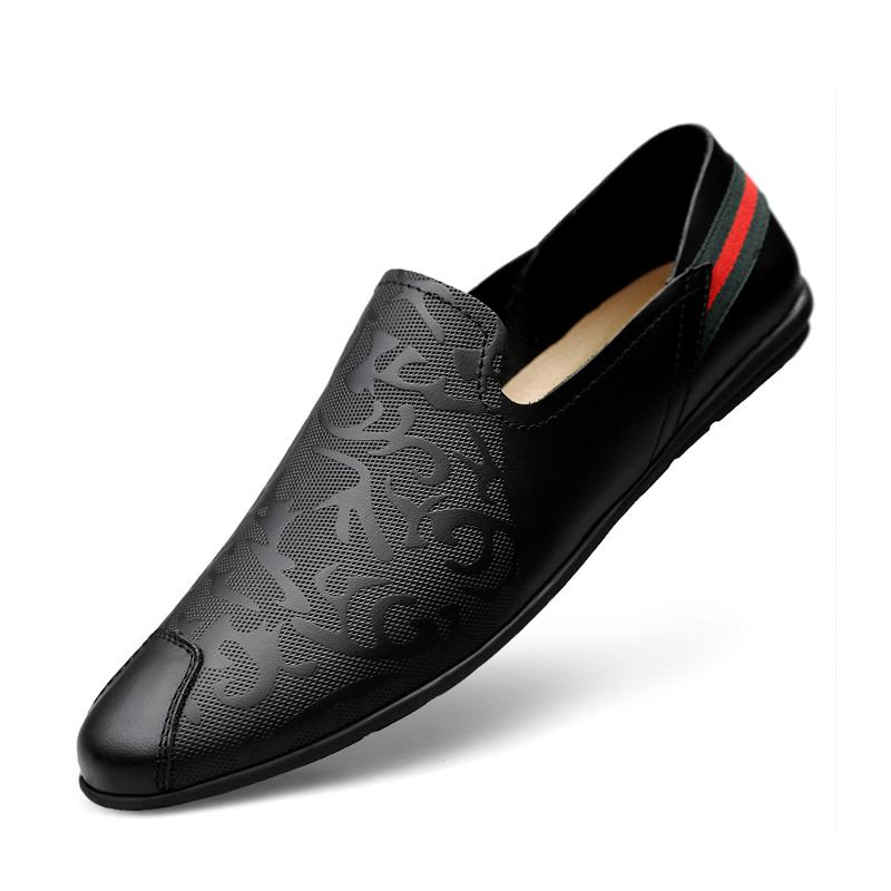 Cowhide Slip On Men's Dress Shoes