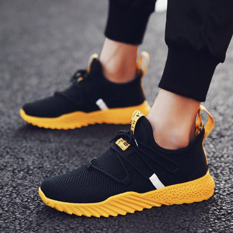 Breathable Mesh Lace Up Men's Sneakers