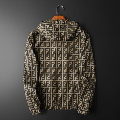 Trendy Letter Printed Long Seleeve Casual Men's Jacket