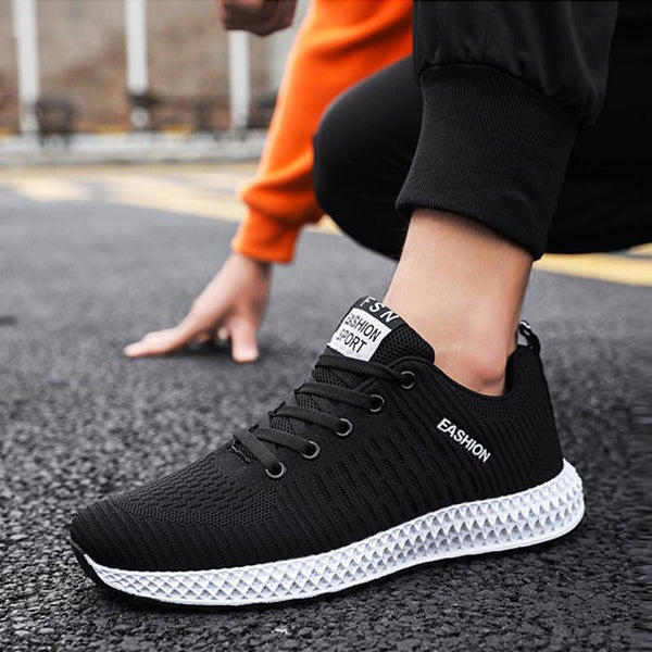 Mesh Lace Up Cold Protection Men's Sneakers