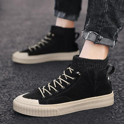 Pig Skin Lace Up Men's Sneakers