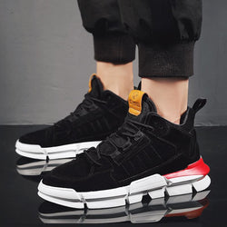 Suede Lace Up Platform Men's Sneakers