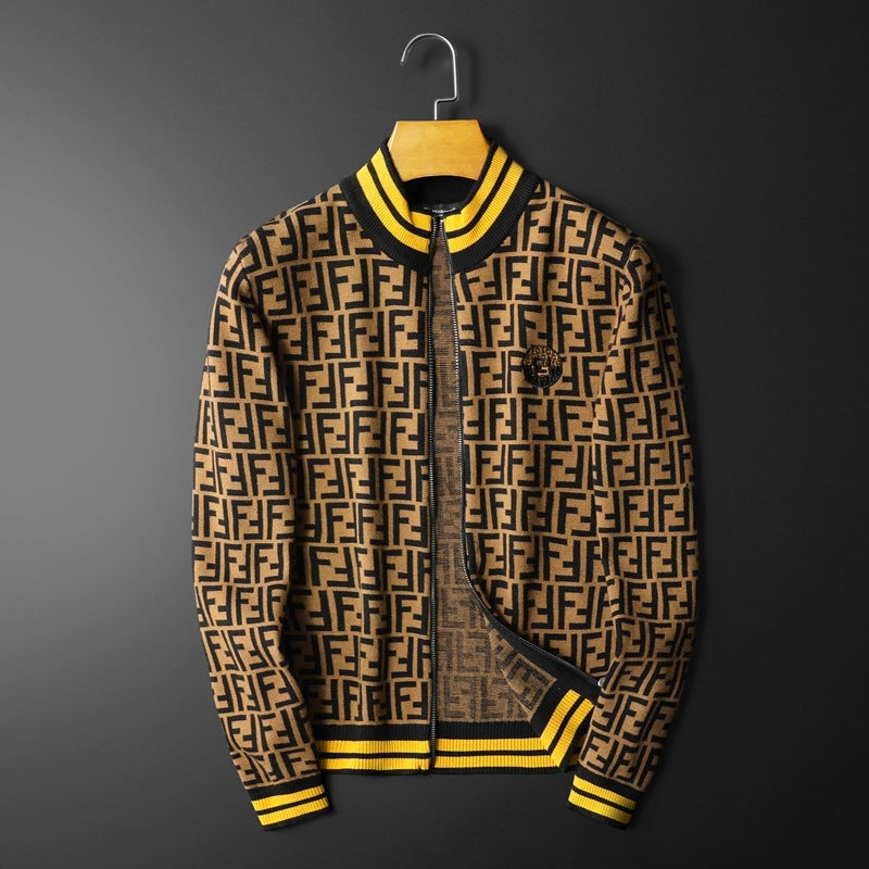Best Selling Contrast Color Men's Letter Printed Jacket