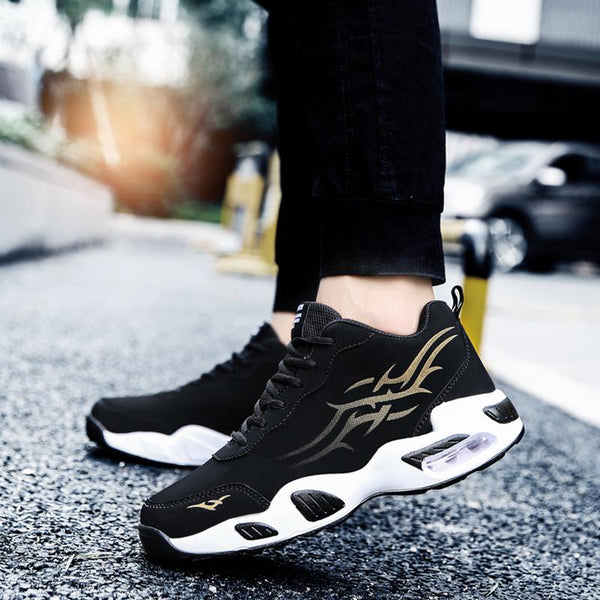 Leather Lace Up Runing Men's Sneakers
