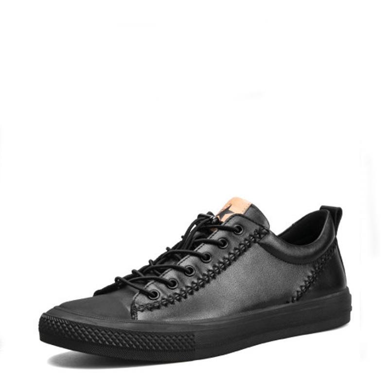 Cowhide Elastic Band Men's Sneakers