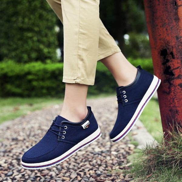 Canvas Lace Up Breathable Men's Sneakers