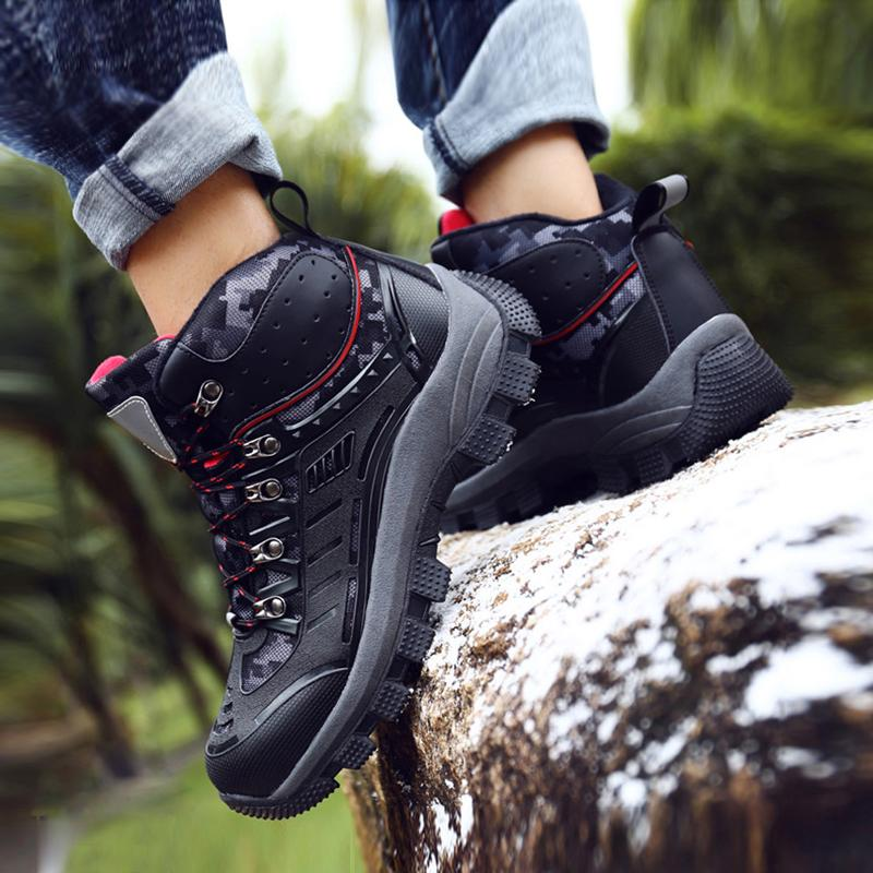 Leather Lace Up Mountaineering Men's Sneakers