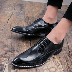Microfiber Lace Up Men's Dress Shoes
