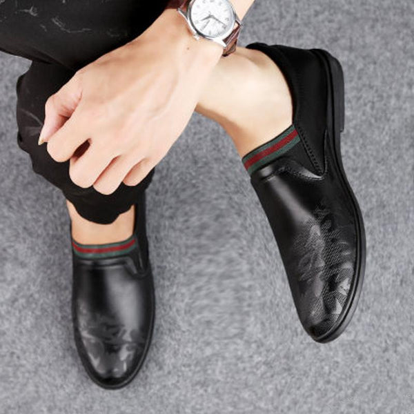 Cowhide Lace Up Men's Loafers