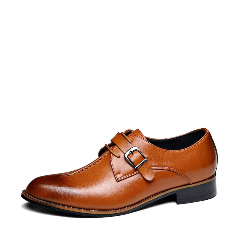 Leather Slip On Men's Dress Shoes