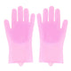 Magic Silicone Scrubber Rubber Dish Washing Gloves