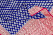 Banarasi silk georgette saree in biege