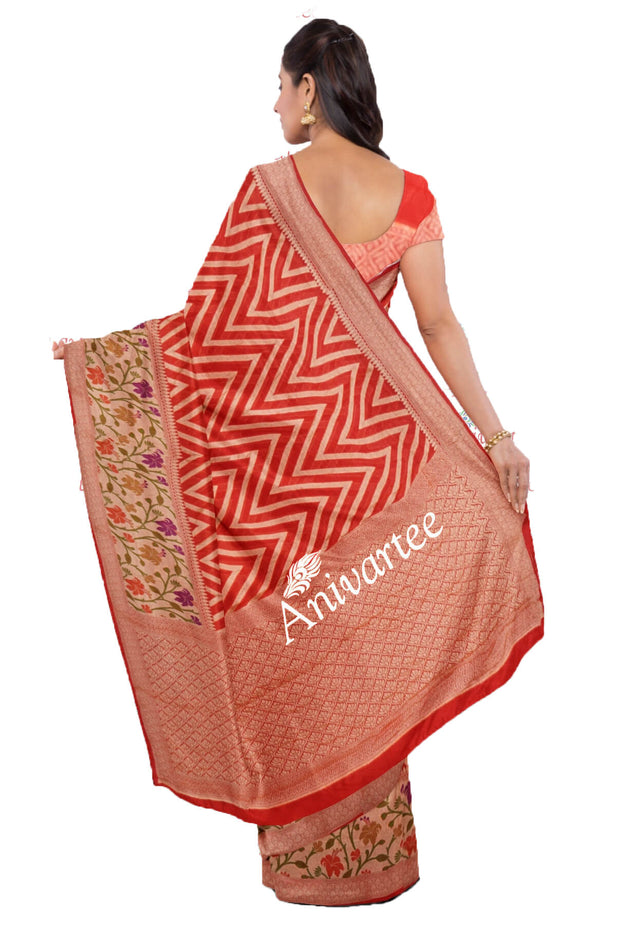Handwoven Banarasi silk georgette saree