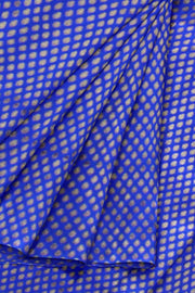 Banarasi silk fabric in blue. Available in multiples of 1M & 2.5M