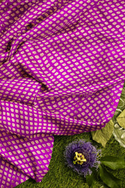 Banarasi  silk fabric in purple  Available in multiples of 1M & 2.5M