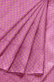 Banarasi  silk fabric in onion pink  . Available in multiples of 1M & 2.5M