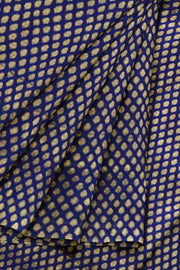 Banarasi  silk fabric in navy blue . Available in multiples of 1M & 2.5M