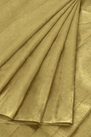 Banarasi  silk fabric in beige. Available in multiples of 1M & 2.5M