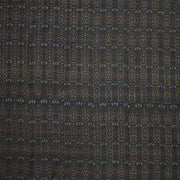 Handwoven Ikkat pure silk unstitched  fabric in dupioni finish in black..