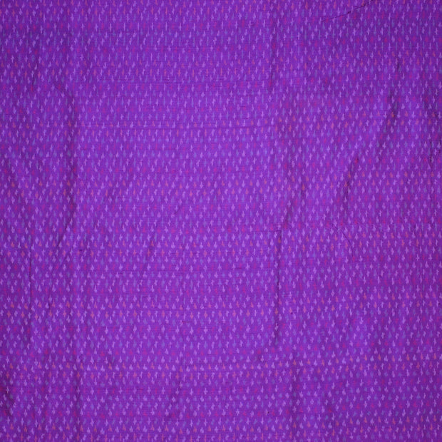 Handwoven Ikkat pure silk unstitched  fabric in dupioni finish in violet