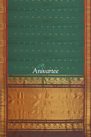 Handloom Gadwal silk cotton saree - Anivartee
