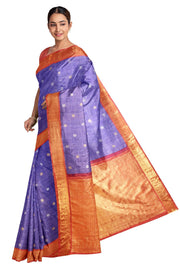 Beautiful Gadwal linen silk saree - Anivartee