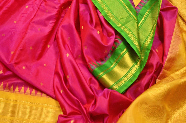 Handwoven Gadwal pure silk saree