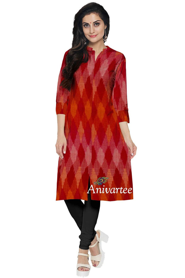 Handwoven Ikkat silk cotton fabric - Anivartee