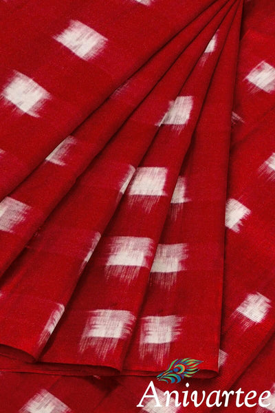 Handwoven double ikkat pure cotton fabric - Anivartee