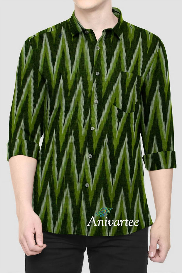 Handwoven  Ikkat pure cotton fabric - Anivartee