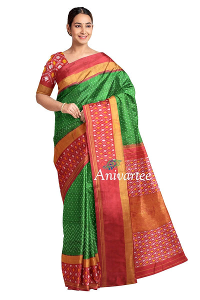 Handwoven Ikat pure silk saree