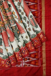 "Ikkat pure saree in "" The Great Elephant Parade """