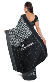 Handloom double Ikkat pure cotton saree - Anivartee