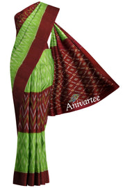 Handloom Ikat pure cotton saree - Anivartee