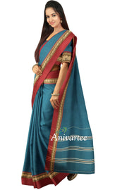 Handloom Kanchi pure cotton saree - Anivartee