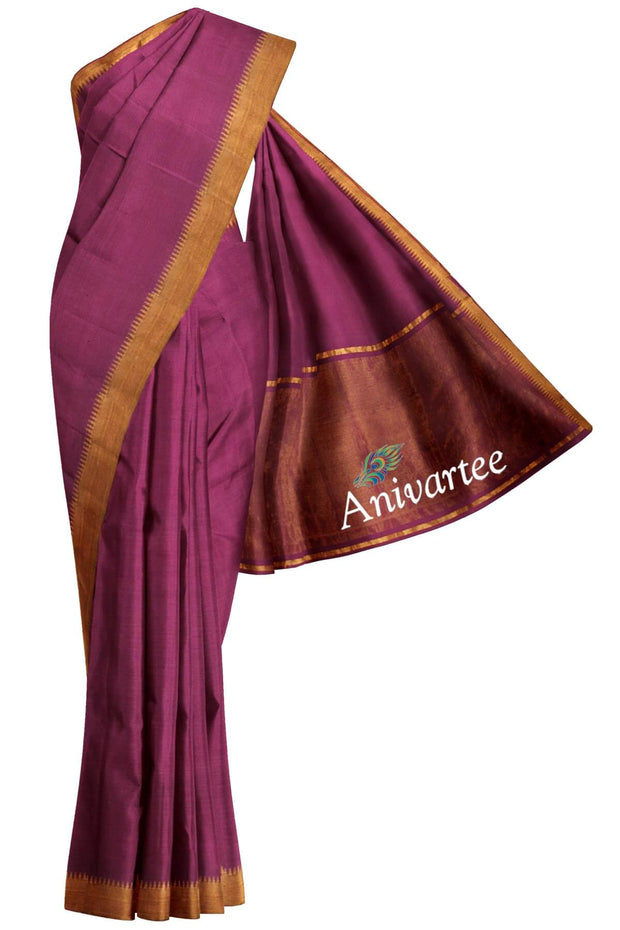 Handloom Mangalgiri pure cotton saree - Anivartee