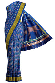 Handwoven Patola Ikat pure silk saree