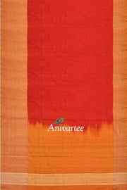 Handloom Uppada pure silk saree with a big border - Anivartee