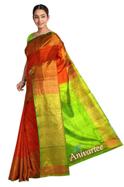 Handloom Uppada pure silk saree with a big border