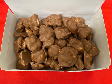 Chocolate Covered Peanut Clusters - 1 Pound Box