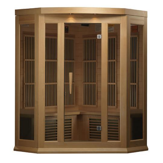 Maxxus 3 Person Per Corner Low EMF FAR Infrared Carbon Canadian Hemlock Sauna MX-K356-01