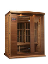 Load image into Gallery viewer, Maxxus Series Red Cedar Low EMF 3 Person FAR Infrared Sauna MX-K306-01-CED