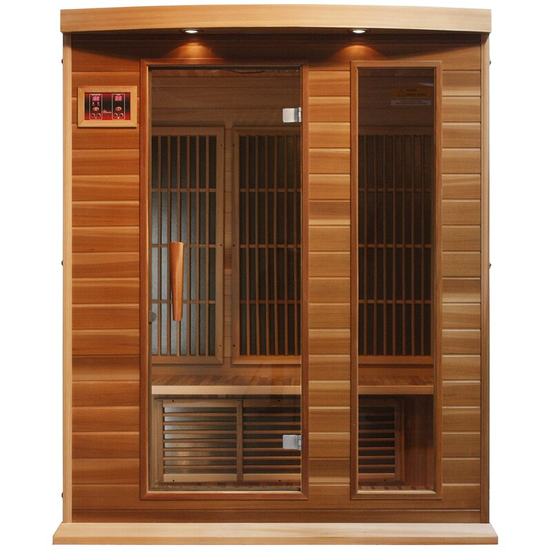 Maxxus Series Red Cedar Low EMF 3 Person FAR Infrared Sauna MX-K306-01-CED