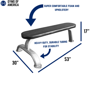 Flat Weight Bench BM-FB by Muscle D Fitness