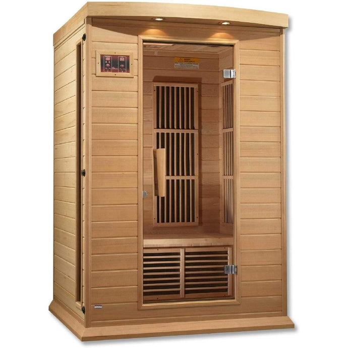 Maxxus 2 Person Low EMF FAR Infrared Carbon Canadian Hemlock Sauna MX-K206-01