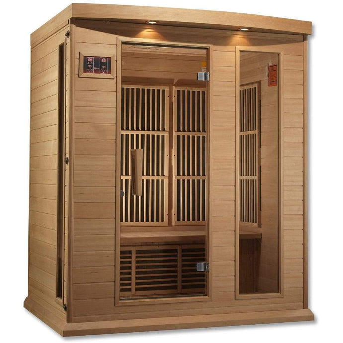 Maxxus 3 Person Low EMF FAR Infrared Carbon Canadian Hemlock Sauna MX-K306-01