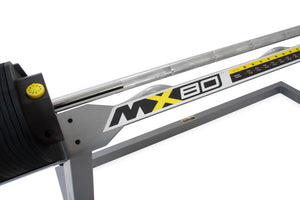 MX Select Adjustable Barbell & EZ Curl Bar MX80 with Stand