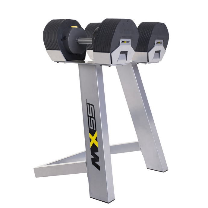 MX Select Adjustable Dumbbells MX55 with Stand