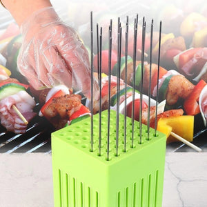 Hot Sale BBQ 49 Holes Meat Skewer Kebab Maker Box